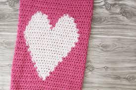 crochet heart love blanket in grey u0026 white throw baby unisex