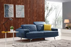 Modern Leather Couch Set Casa T737b Modern Blue Leather Sofa Set