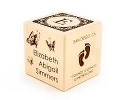 personalized baby blocks and custom block ornaments by koobik