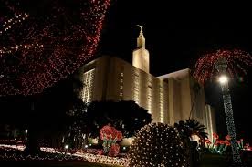 christmas lights los angeles los angeles mormon lds california temple