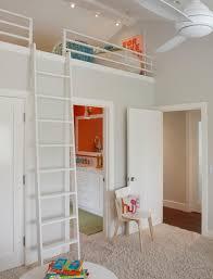 Loft Bed With Closet Underneath Kids Room W Loft Bed Over Bathroom Beautiful Design Pinterest