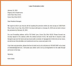 lease termination letter example termination letter sample 886