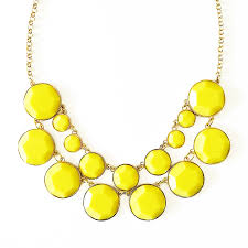 yellow necklace images Bauble box bib double row chunky necklace with yellow resin beads jpg