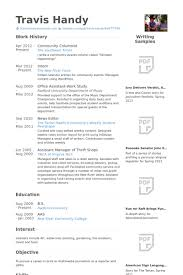 Barber Resume Example by Columnist Resume Samples Visualcv Resume Samples Database