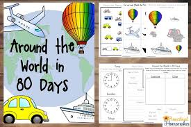80 printables for around the world in 80 days unit study