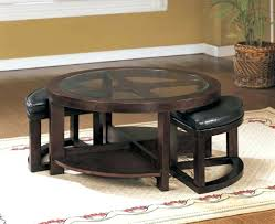 Coffee Table Coffee Table With Nesting Stool Round Coffee Table - Kitchen table with stools underneath