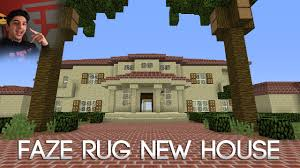 faze rug u0027s new house in minecraft first ever v1 youtube