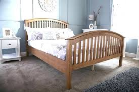 High King Bed Frame High King Size Bed Frame End Wooden Oak
