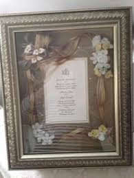 wedding gift keepsakes framed wedding invitation wedding gift framed ivory wedding