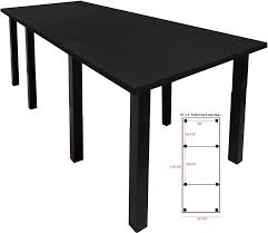 4 X 8 Conference Table Standing Height Conference Tables W Square Black Legs 5 Color
