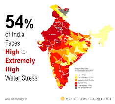 Map Of Red And Blue States by 3 Maps Explain India U0027s Growing Water Risks World Resources Institute
