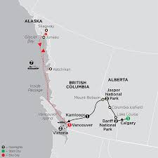 Alaska Cities Map by Alaska Tour Cosmos Budget Travel