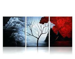wall ideas wall art design ideas home interior contemporary wall art modern abstract modern art metal wall decor 2017 3 panels the cloud tree wall art oil paintings giclee landscape canvas prints for home decorations