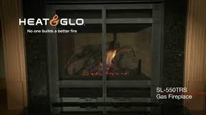 heat u0026 glo slimline sl 550trs gas fireplace video youtube