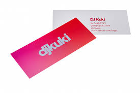 mini business cards slim small skinny print peppermint