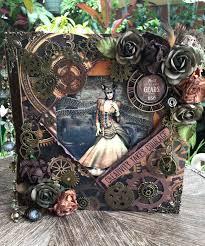 martica designs round robin mini album ii steampunk style