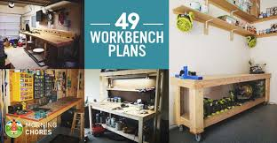 Ideas For Workbench With Drawers Design 49 Free Diy Workbench Plans Ideas To Kickstart Your Woodworking