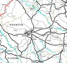 County Map Washington by County Of Washington Georgiainfo
