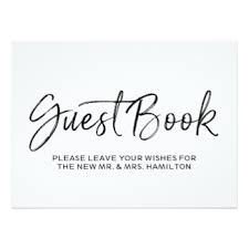 wedding guest book sign wedding guest book sign invitations announcements zazzle