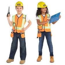 construction worker costume kids builder fancy dress up costume kit book week construction