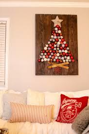 rustic diy holiday ornament display the glam farmhouse