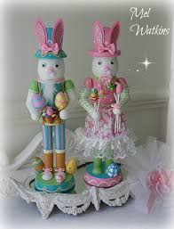 pastel easter bunny nutcrackers for sale sweet easter