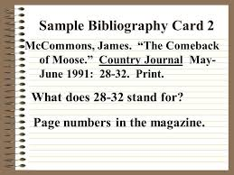 sample of bibliography cards for a research paper pad liked ga