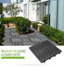 6xdiy wooden plastic composite interlocking decking tiles garden