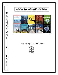 frankfurt 2011 higher ed rights guide by john wiley and sons issuu