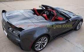 corvette c7 convertible c7 corvette convertible rear extended stinger c7 r stripes for