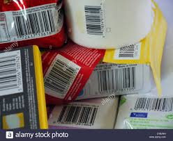 household products numerous household products showing barcodes stock photo royalty