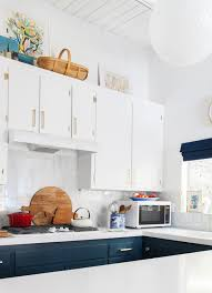 electric blue kitchen cabinets navy blue kitchen cabinets eclectic kitchen farrow and