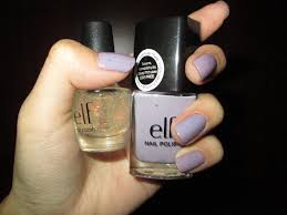 e l f nail polish in lilac and fairy dust