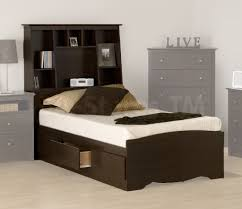 kids bed headboard bedroom traditional espresso finish kids single bed with storage