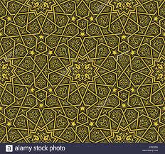 islamic ornament golden black background vector illustration