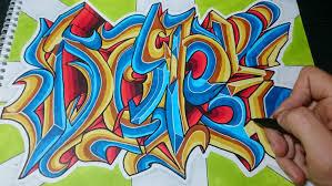 imagenes para dibujar letras graffitis como dibujar letras graffiti dope paso a paso youtube