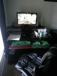 Pc Gaming Desks by My New Gaming Setup New Desk Chair Keyboard And Headset Pc