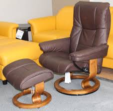 Leather Chair With Ottoman Stressless Chelsea Small Mayfair Paloma Chocolate Leather Recliner
