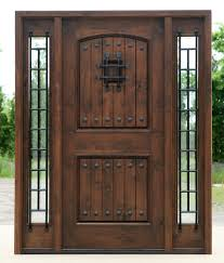 front doors for homes with glass rustic exterior doors in walnut finish clear beveled glass