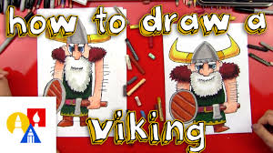 how to draw a viking youtube