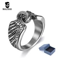 mens rings silver images Buy simple mens rings silver wheel wings vintage jpg