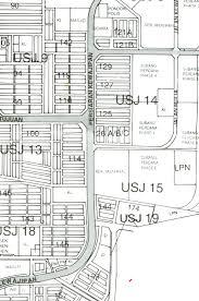 map usj 23 map of uep subang jaya