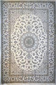 Neutral Persian Rug Tabriz Mahi Wool Persian Rug Item 2045