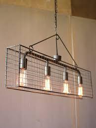 Industrial Lighting Chandelier Industrial Caged Rectangle Chandelier Modern Furniture