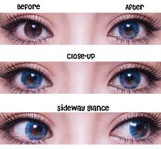 pretty crystal blue circle lenses color contacts pinkyparadise