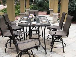 Patio Bar Height Dining Set - dining room beauteous small outdoor dining room decoration using