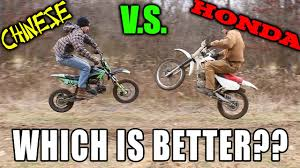 chinese motocross bikes best beginner dirt bike honda vs apollo chinese pitbike youtube