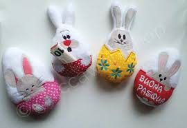 stuffed easter eggs stuffed easter eggs plush softies pack of 4 subjects ith