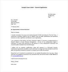 pleasant general cover letter sample 14 13 templates free sample