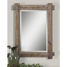 shop for uttermost claudio wood mirror get free shipping at